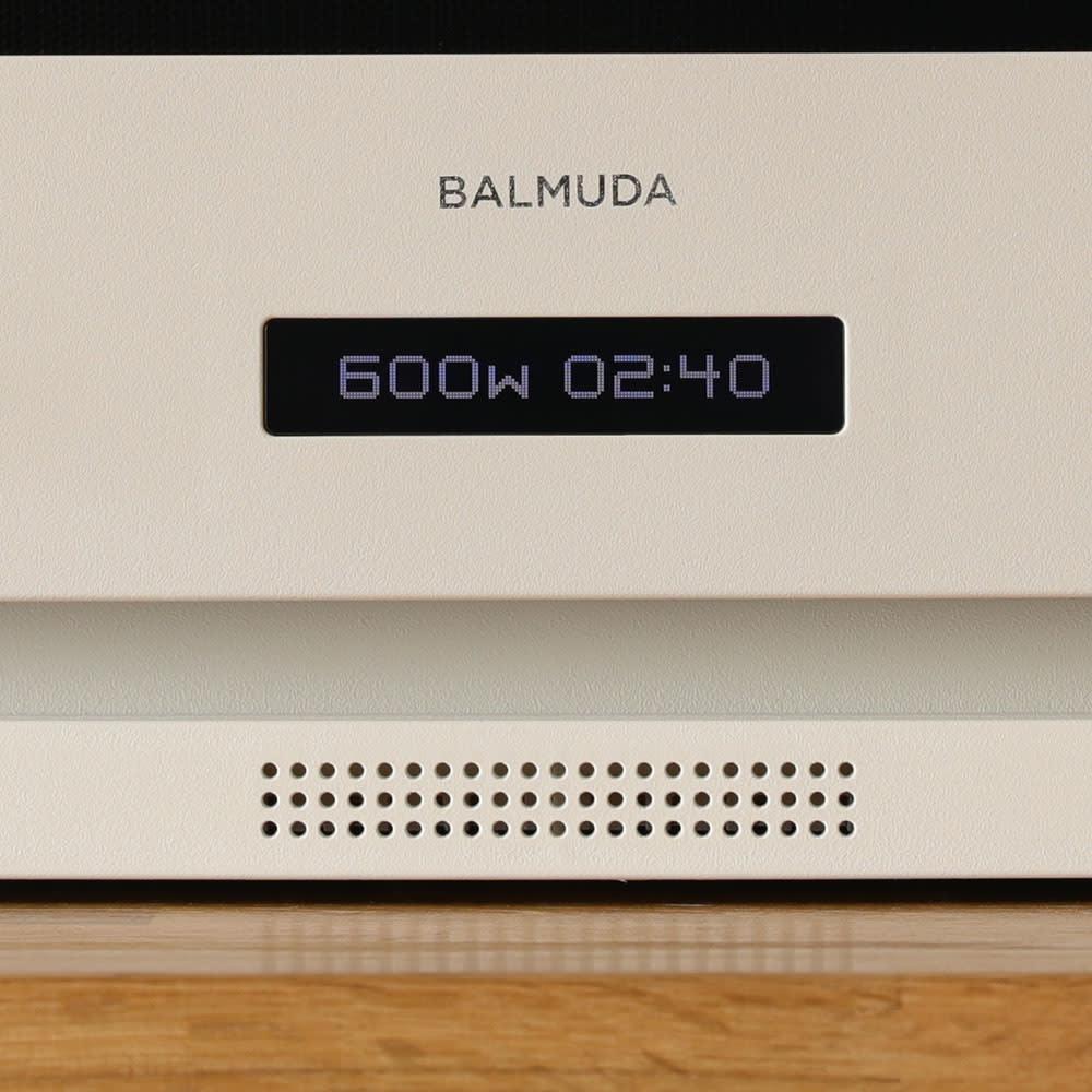 【送料無料】BALMUDA The Range(バルミューダ ザ レンジ) カラータイプ 【SOUND】操作音は電子音とギターが奏でる音から選択ができます。スピーカーから流れる良質な音が耳に心地よく。