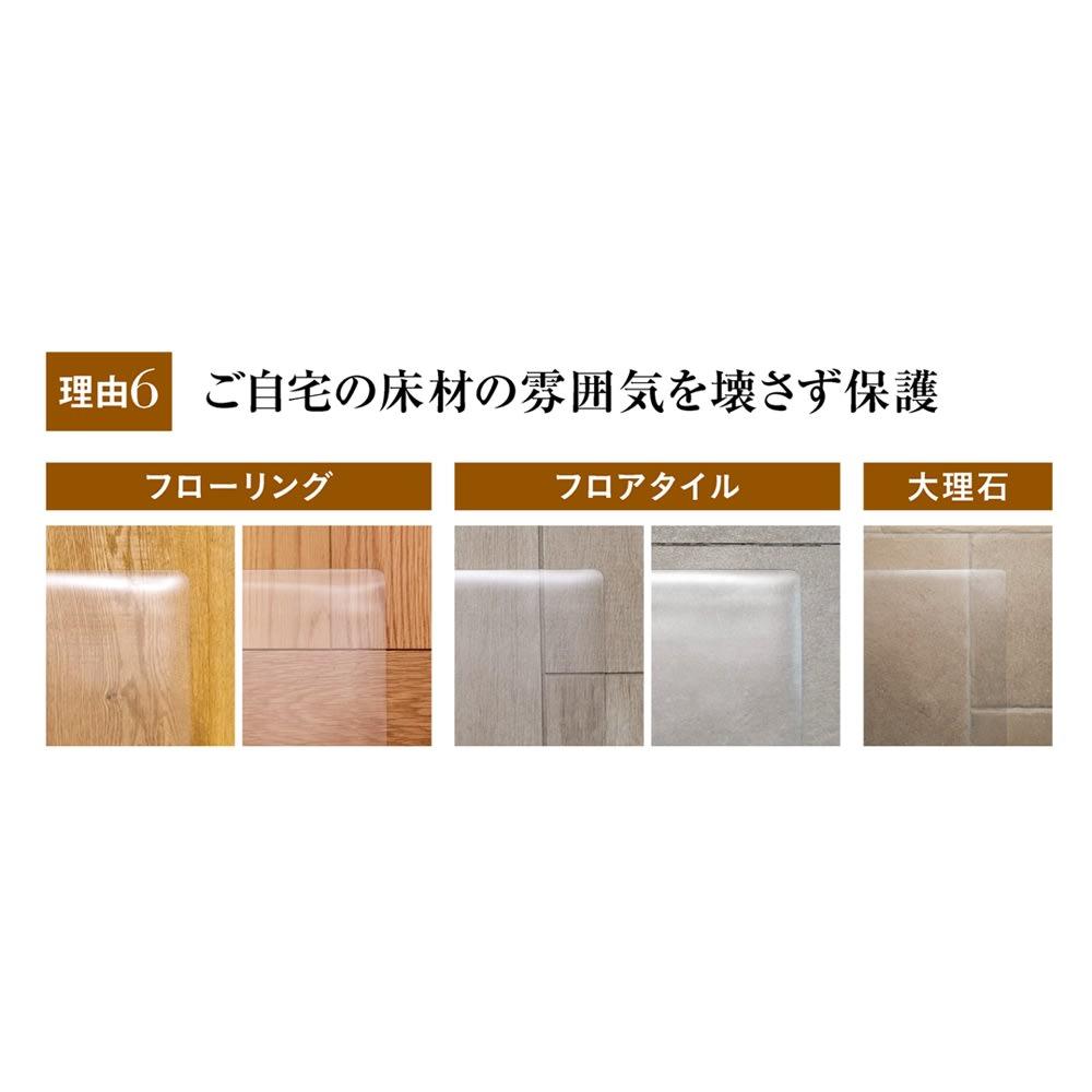 アキレス 透明キッチンフロアマット Neo (奥行60cm)