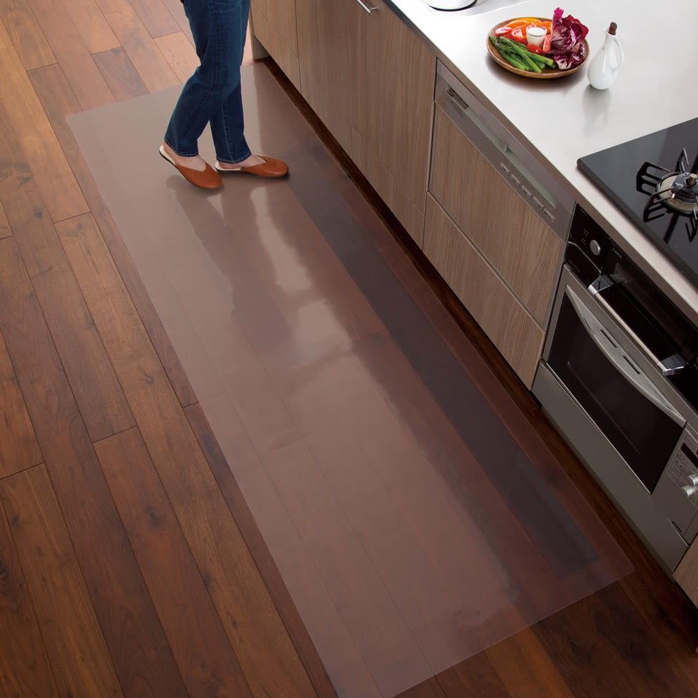 アキレス透明シリーズ キッチンフロアマット Neo (イージーオーダー) 床やテーブルを守ってキレイが続く!