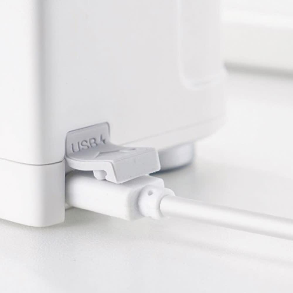 センサー式タッチレス水栓 1回の充電で約6ヶ月使用可能! 電源はUSB充電 約3時間のフル充電で約6ヶ月または約10万回の使用が可能。マメに充電しなくていいのでラクちんです。