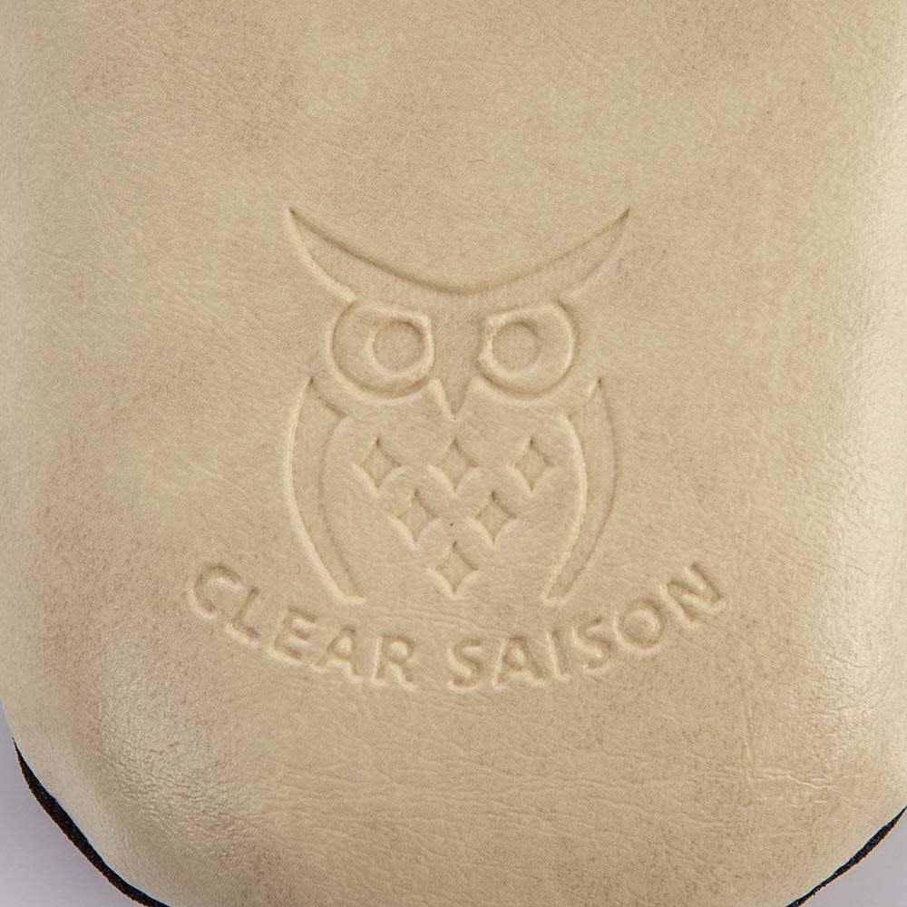 次亜塩素酸・アルコール対応 クリアセゾンスリッパ 色・サイズ選べる2足組  かわいいフクロウの刻印デザイン。