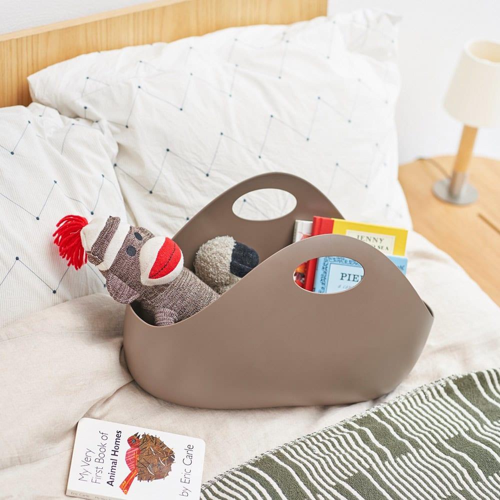 ENOTS/エノッツ インテリアバッグ バスケット 1個 (ウ)ブラウン お子様のおもちゃの収納に。