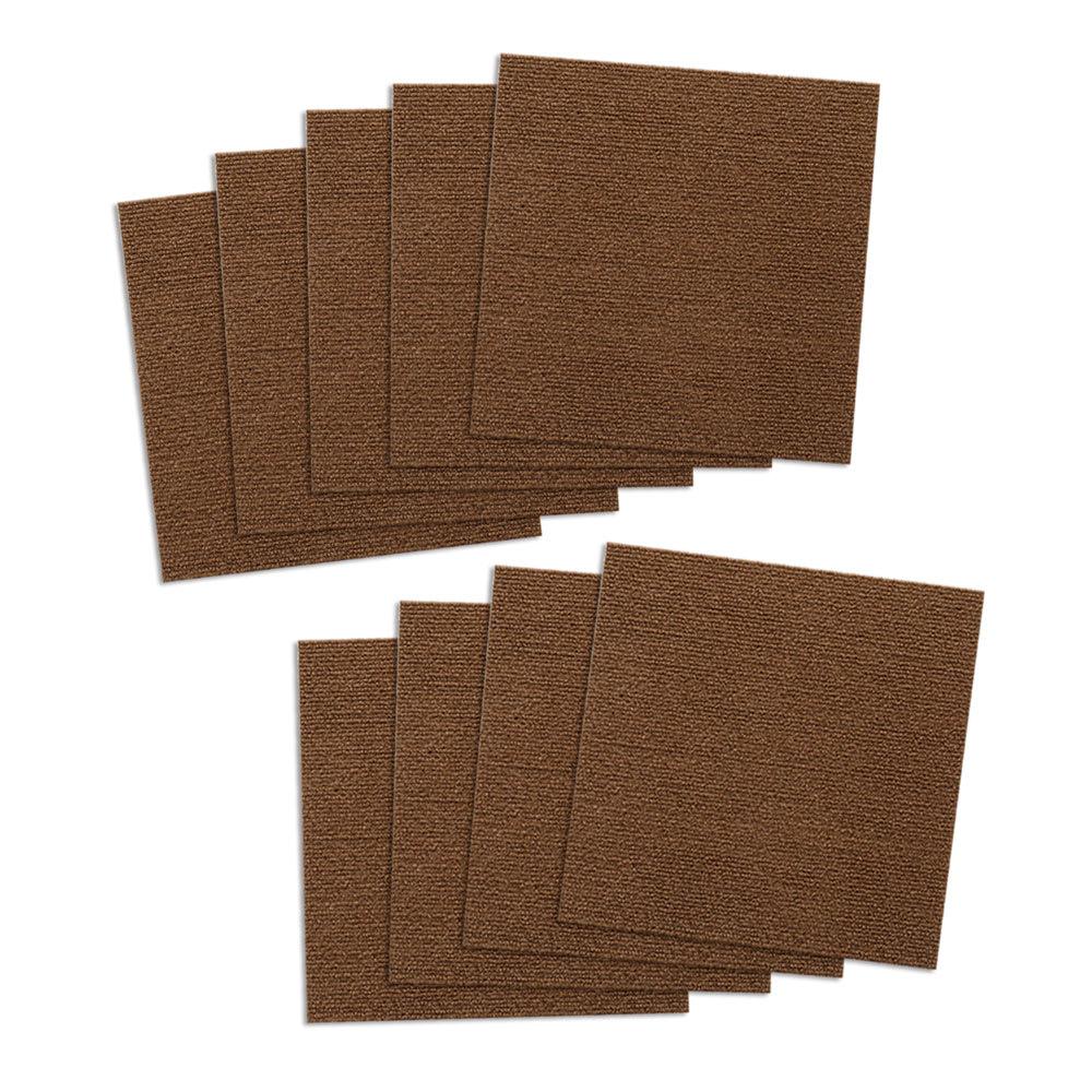 カテキン消臭&はっ水 おくだけ吸着タイルマット アレル物質対策タイルマット(30×30cm) 同色9枚組 (イ)ブラウン