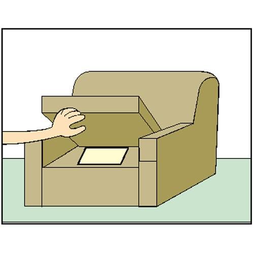 日革研究所 「ダニ捕りロボ」 ハードケース 5個組(ソファー・押入れ用) ソファーの下に。