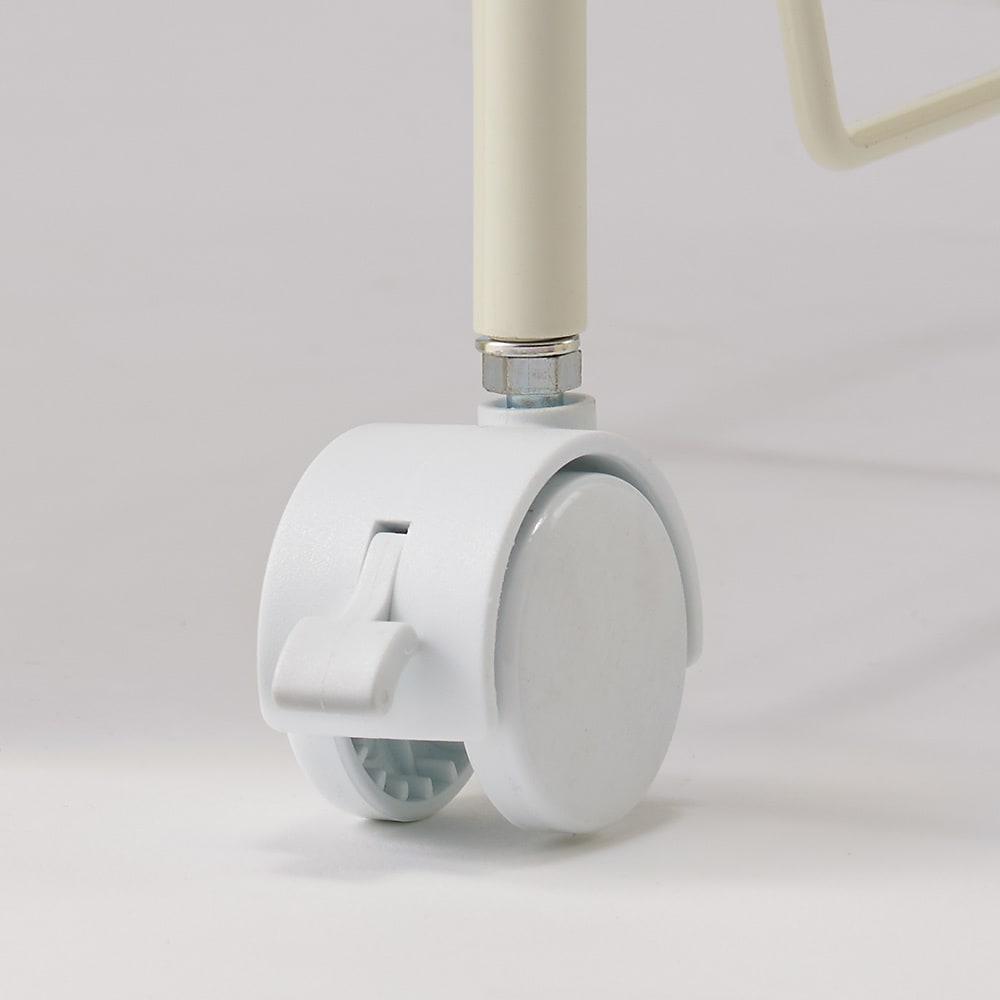 CURVER/カーバー ニット調ランドリーワゴン+バスケットセット(ラウンド用ワゴン2段+ラウンドタイプ×2個) キャスター(うち2個ストッパー)付き