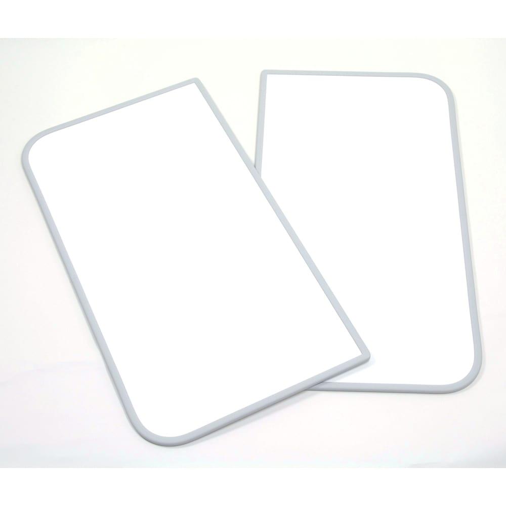【サイズオーダー】銀イオン配合(AG+)  軽量・抗菌 パネル式風呂フタ 幅122~130奥行68cm(2枚割) 商品は2枚割となります。