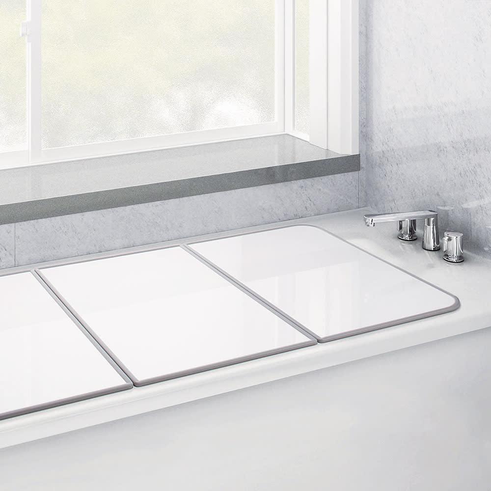【サイズオーダー】銀イオン配合(AG+) 軽量・抗菌 パネル式風呂フタ 幅122~130奥行73cm(2枚割) ※サイズにより割枚数が異なります。
