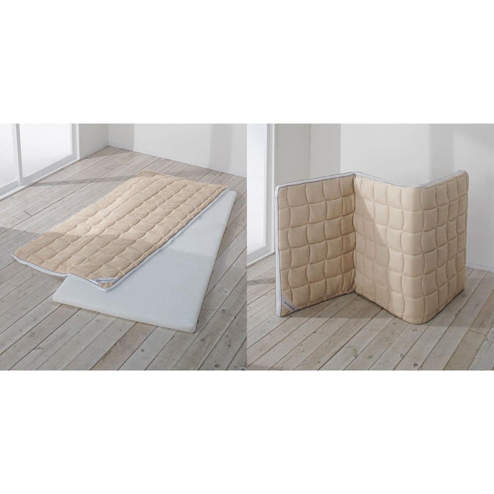 朝が違う。敷布団の決定版! ブレスエアー(R)敷布団 ネオ シリーズ 消臭・吸汗パッド付き敷布団 敷布団本体にはファスナーがついています。ファスナーを開き、側カバー部分は水洗いができます。*中素材(ブレスエアー素材)は洗えません。また、立てかけて放湿OK!※サイズによっては自立しない場合がございます。
