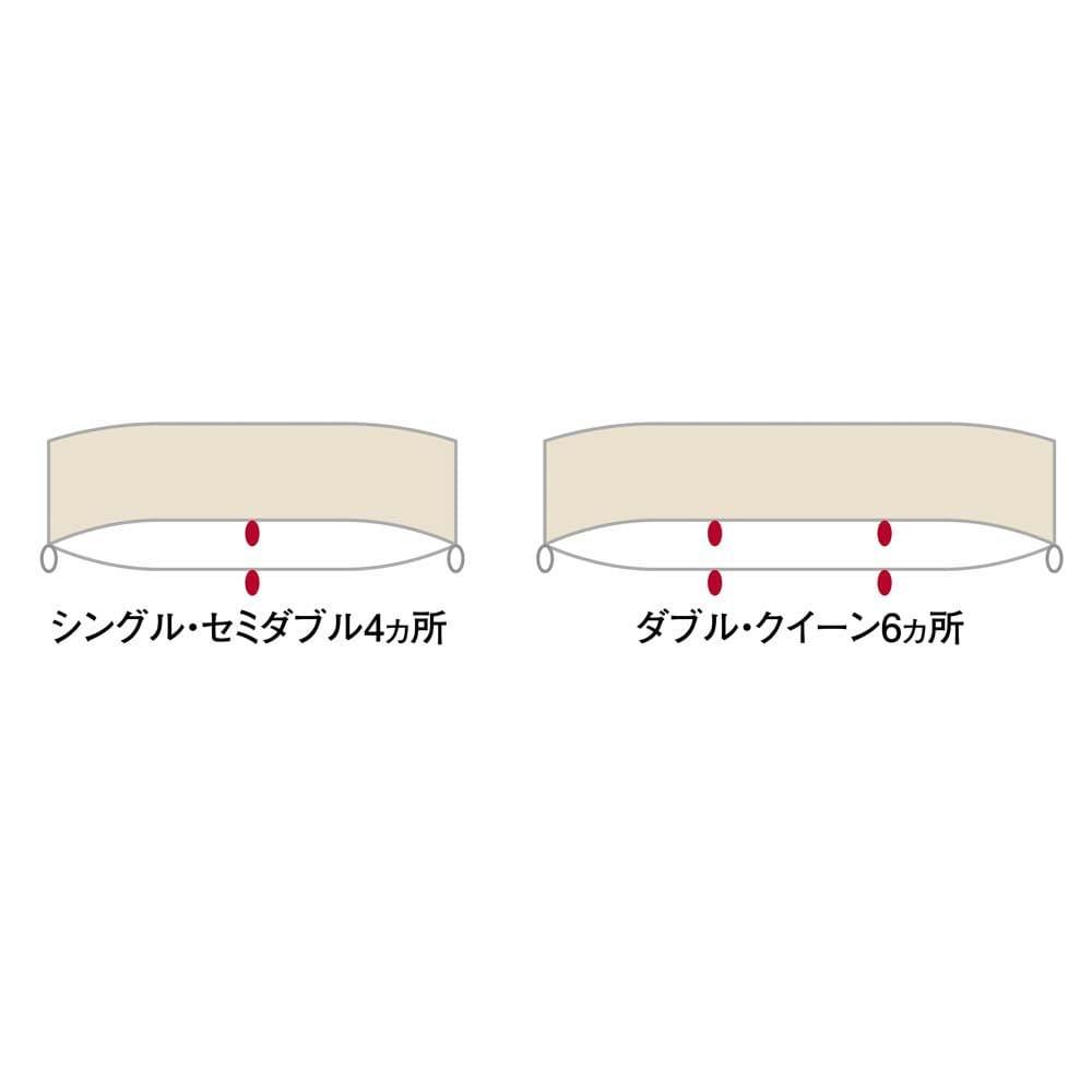 衿元だけ洗える!襟カバー(同色2枚組) センター部分のクリップが、寝ている間のズレをより防ぐ構造に。