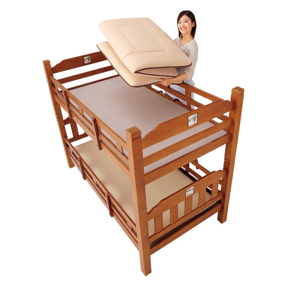 新 軽量&しっかり敷布団シリーズ お得な掛け+敷き+枕セット 2段ベッド用