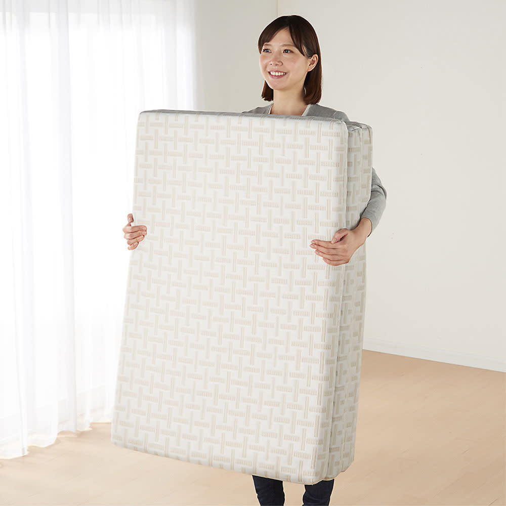 Afitマットレスシリーズ 3つ折り敷布団 3つ折り式で軽量なので上げ下ろしもラクラク。
