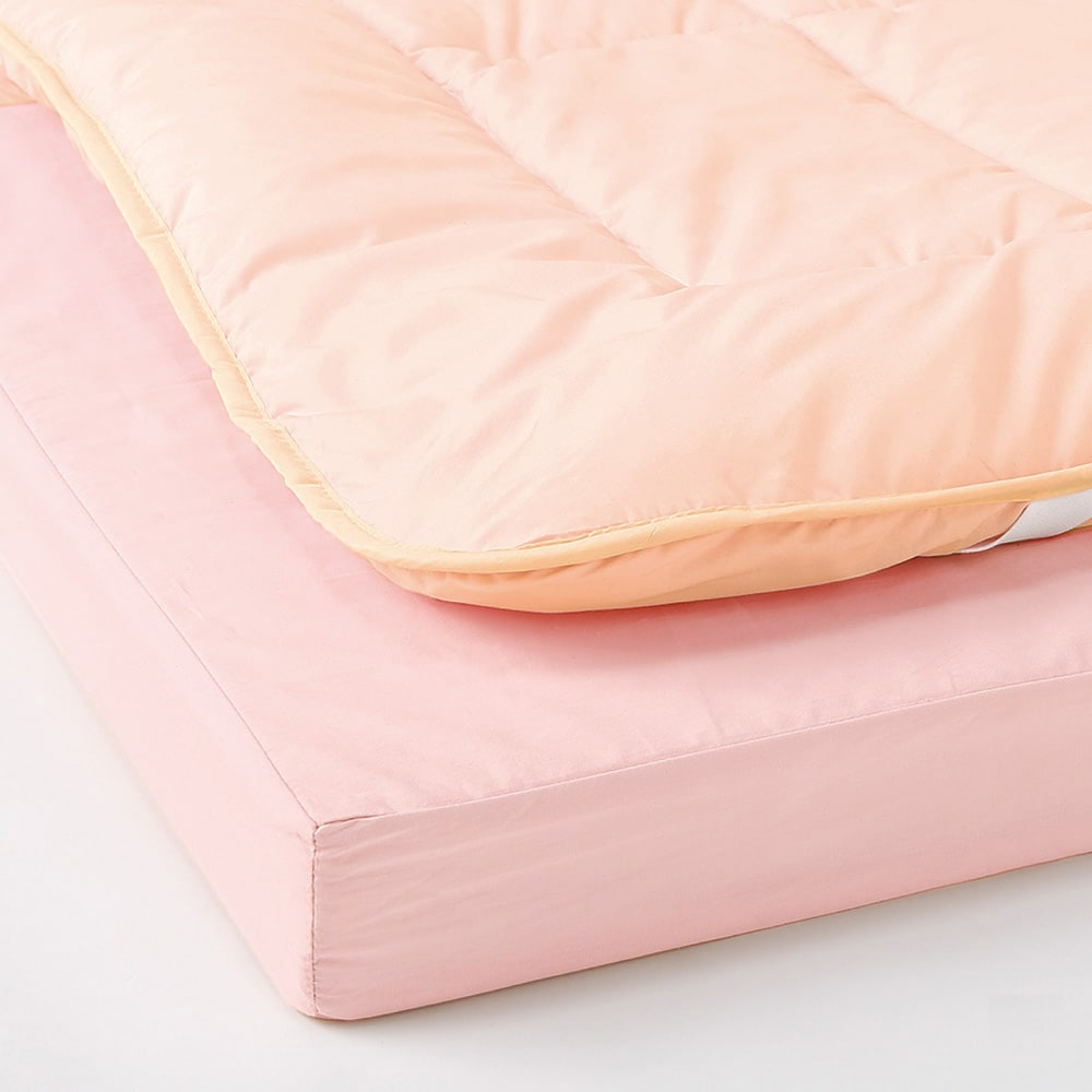 抗菌コンパクト&ワイド ファミリー布団 ベーシック 下層マット単品 幅80cm1枚 (ア)ピンク