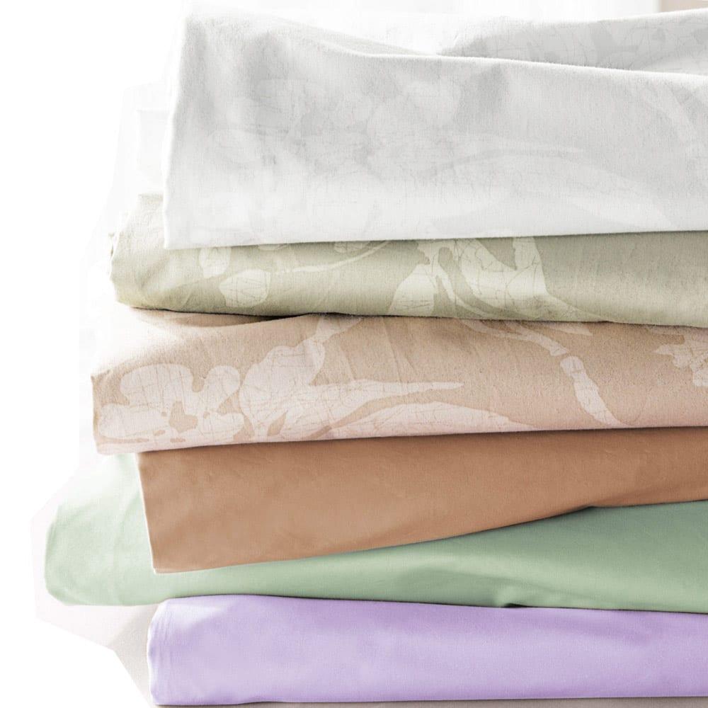 ベッド用シングル6点(お得な完璧セット(布団+カバー)) カバーはインテリア性の高い6タイプ。花柄タイプと無地タイプをご用意しています。