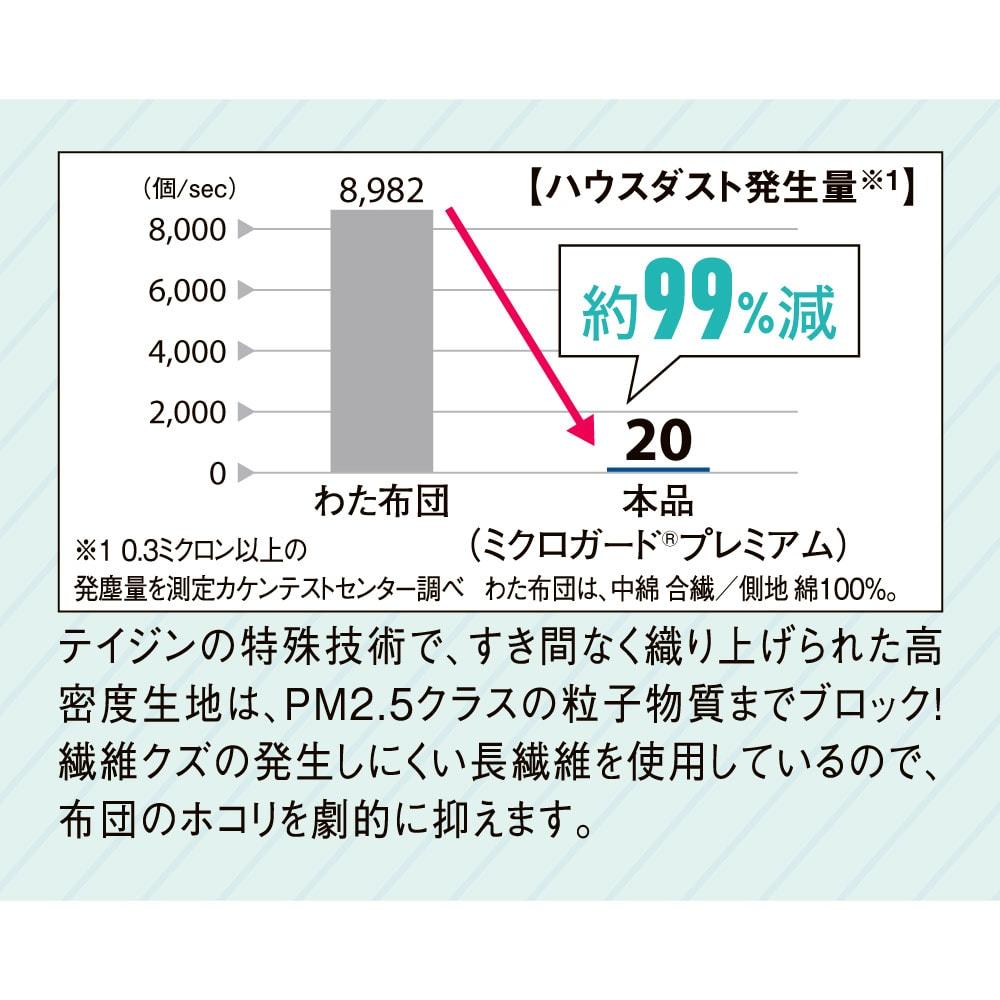 ミクロガード(R)プレミアムシーツ&カバーシリーズ 掛けカバー ハウスダストの発生を低減!