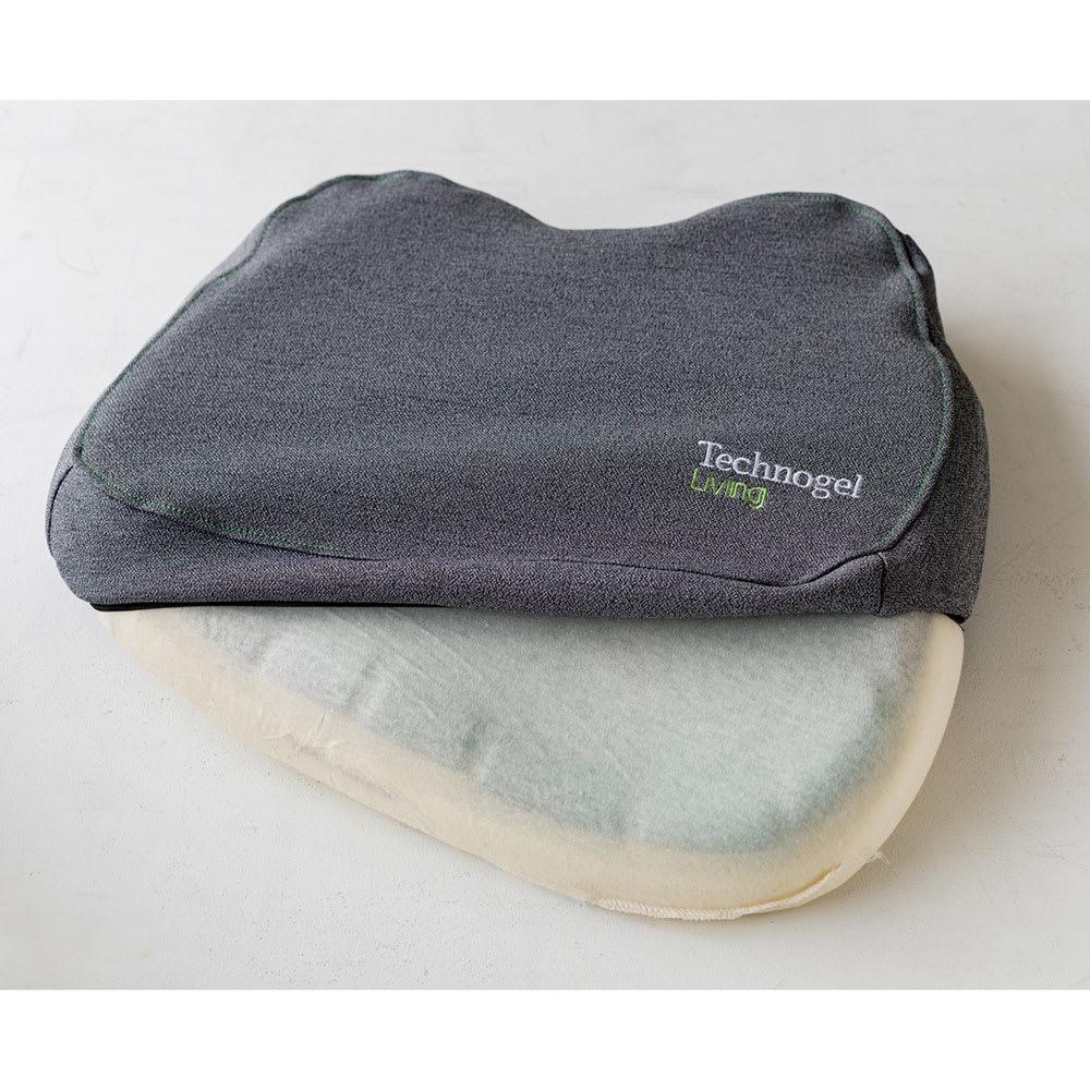 テクノジェル 2点セット(シートクッション&ランバーサポート) 側カバーはファスナー式で取り外せるので、ご自宅の洗濯機で洗えます。(ネット使用)