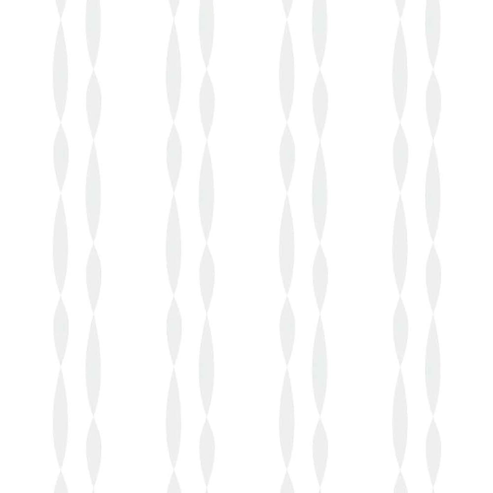 形状記憶加工多サイズ・防炎・UV対策レースカーテン 100cm幅(2枚組) ウェーブ柄 (ウ)レースの柄イラスト