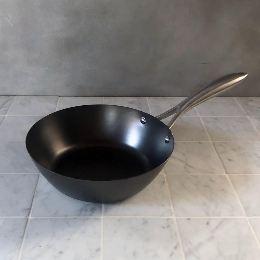 vitacraft/ビタクラフト スーパー鉄 炒め鍋 径22cm シルバー フライパン