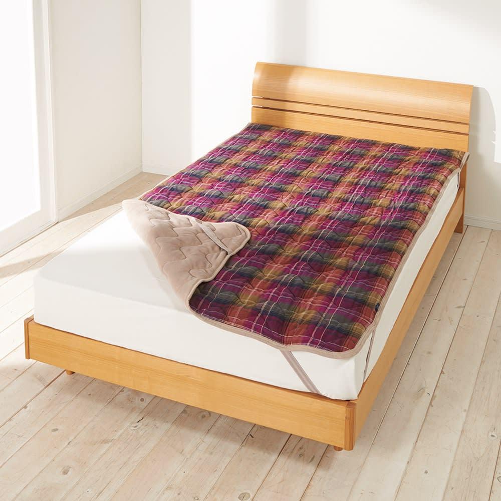 ベッド 寝具 布団 布団カバー シーツ類 ダブル(Peter MacArthur/ピーターマッカーサー タータンチェックあったかカバーリング 敷きパッド) 583912