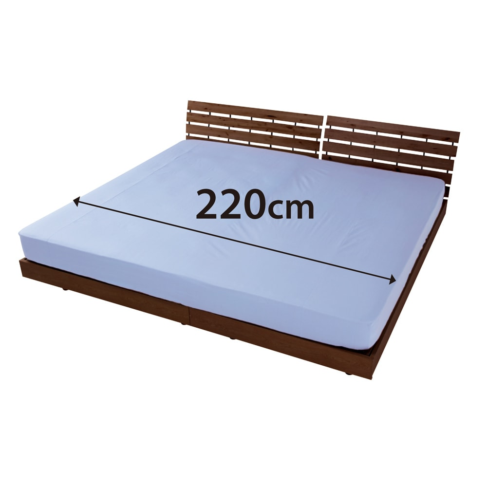 ファミリー布団用 スーパーソフト加工 シワになりにくい綿100%ベッドシーツ(ファミリーサイズ・家族用) (ウ)サックス 大きいサイズも、アイロンいらず! アイロンがけの必要がないから、大きなサイズは超便利。