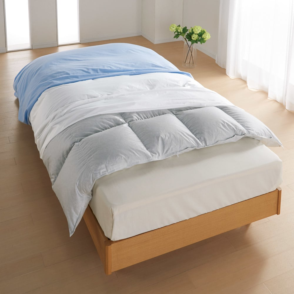 ベッド 寝具 布団 布団カバー シーツ類 機能カバーリング ミクロガード(R)防ダニ用寝具プロテクター 掛け布団用 シングル 585072