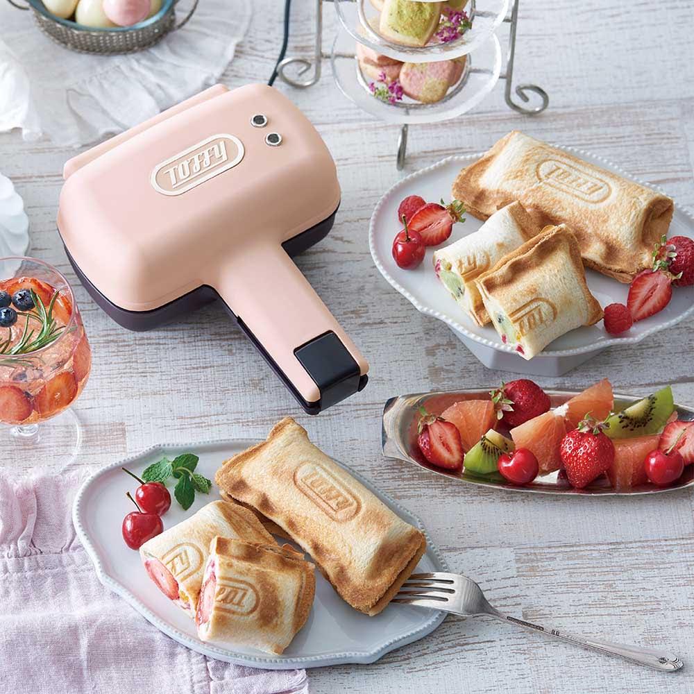 Toffy/トフィー 食パン1枚で焼ける電気式ホットサンドメーカー イチゴとホワイトチョコでスイーツサンド