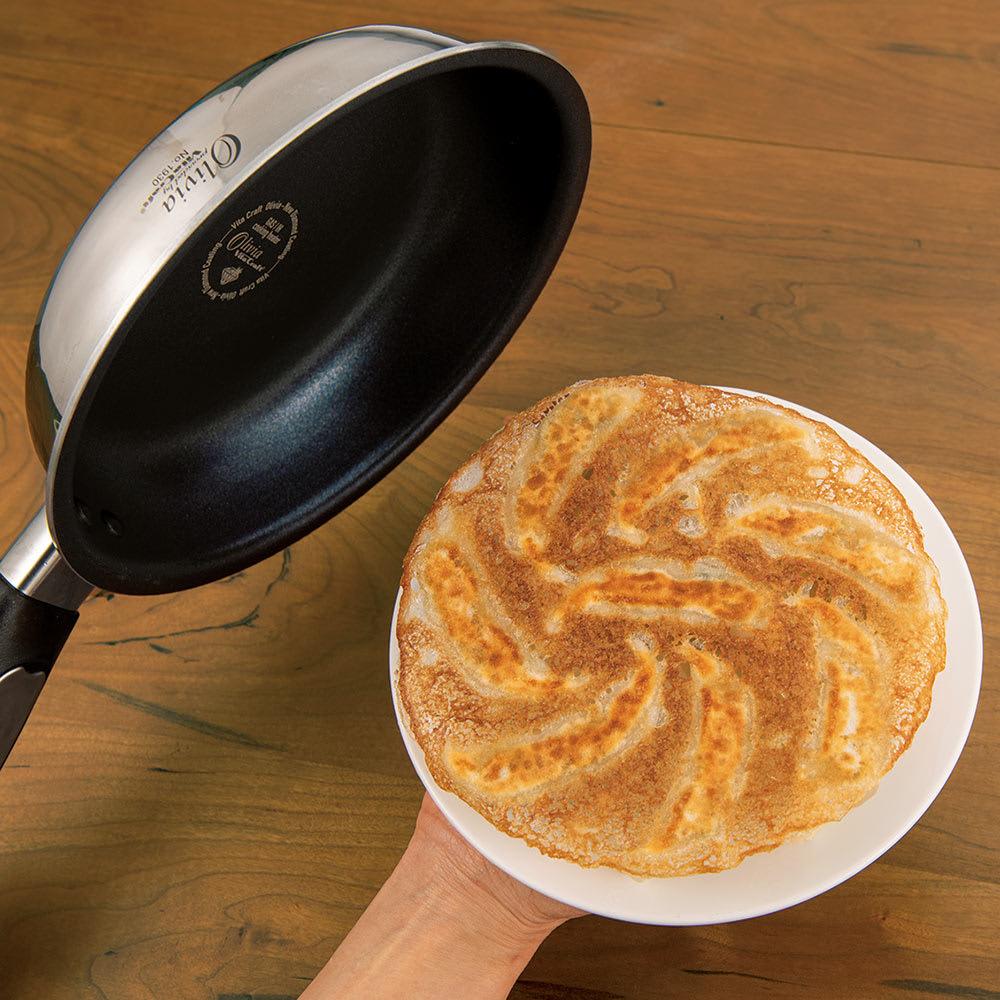 vitacraft/ビタクラフト 特別4点セット(深型24+フライパン20+無水フタ+蒸し板) 焦げつきにくさが本当に長続き。餃子も卵焼きも失敗知らず!