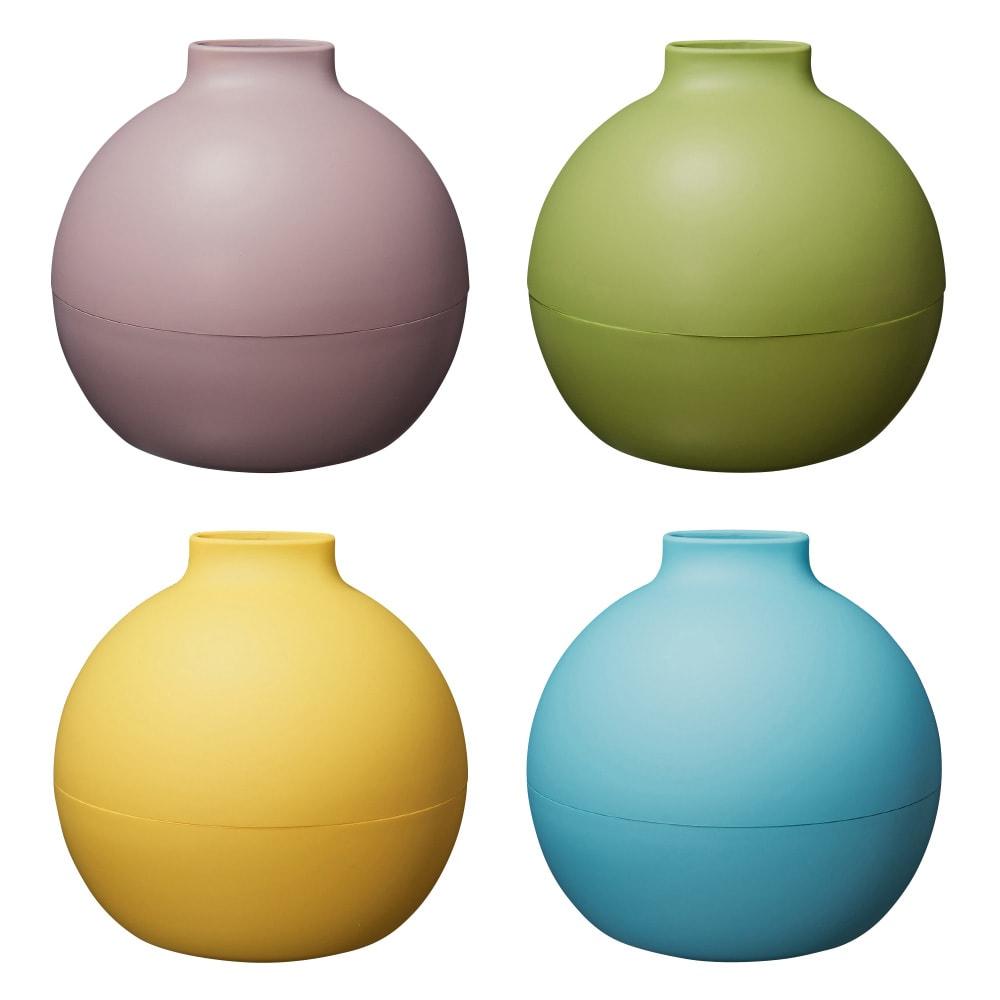 ペーパーPot(ポット) ティッシュケース 色が選べる2個組 全31色 (上段左から)(タ)マットグレージュ、(チ)マットピスタチオ、(下段左から)(ス)マットレモンイエロー、(シ)マットスカイブルー