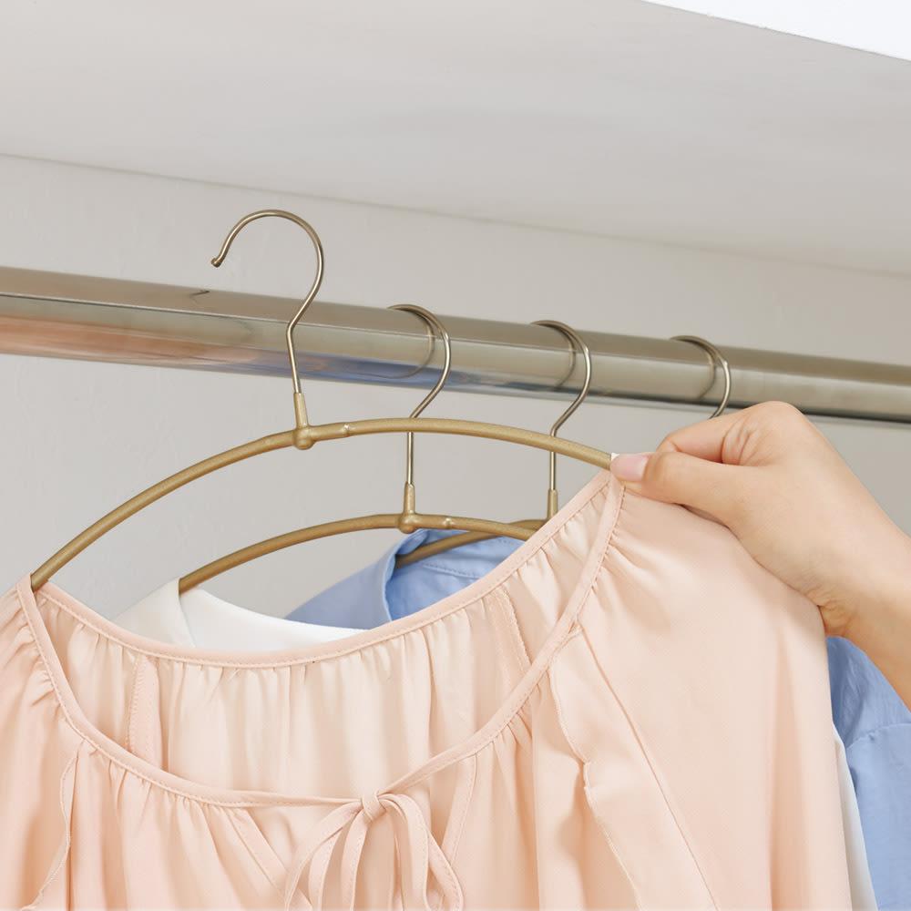 MAWA(マワ)洗濯ハンガー 人体スリムハンガー 乾いたらそのままクローゼットに。細いので収納時もよりスリム。