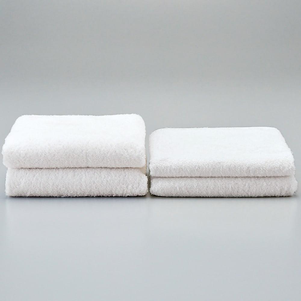 洗うほどやわらかくなるタオル 洗うほどふっくら! (左)3回洗濯後 (右)洗濯前