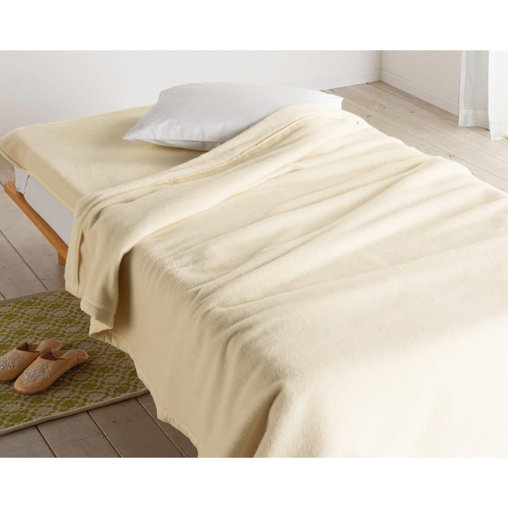 ベッド 寝具 布団 毛布 ブランケット 敷き毛布 クイーン(プレミアムベビーアルパカ毛布シリーズ 敷き毛布) 614218