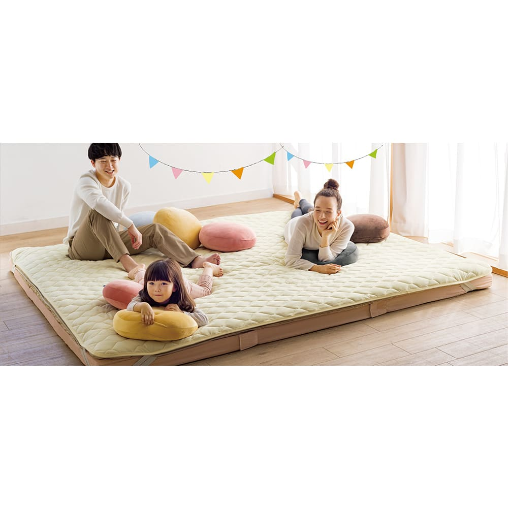 ベッド 寝具 布団 毛布 ベッドパッド 敷きパッド 幅320cm (うっとりなめらか敷きパッド ファミリー) 615008