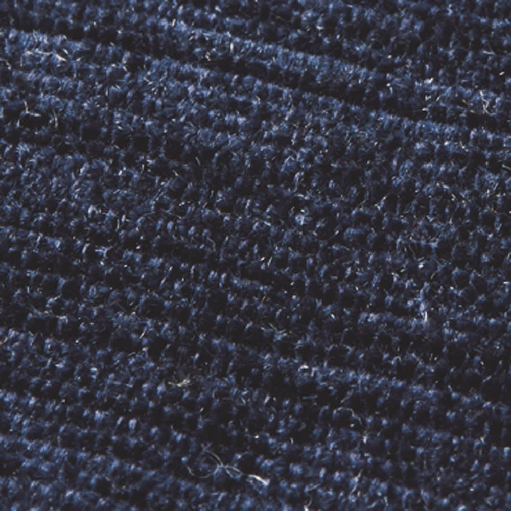 シェニールフラットラグ 掘りごたつラグ(クロス型) [生地アップ] (キ)ブルー