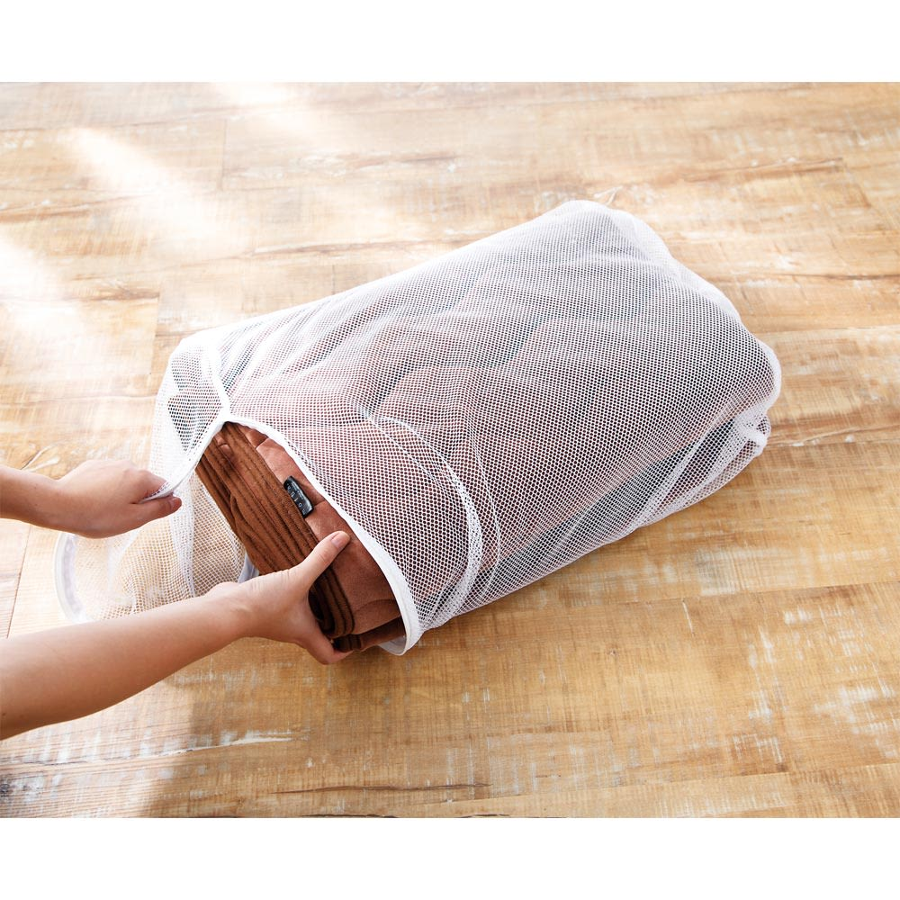 うっとりなめらかパフ 敷きパッド ネットに入れて丸洗い可能。