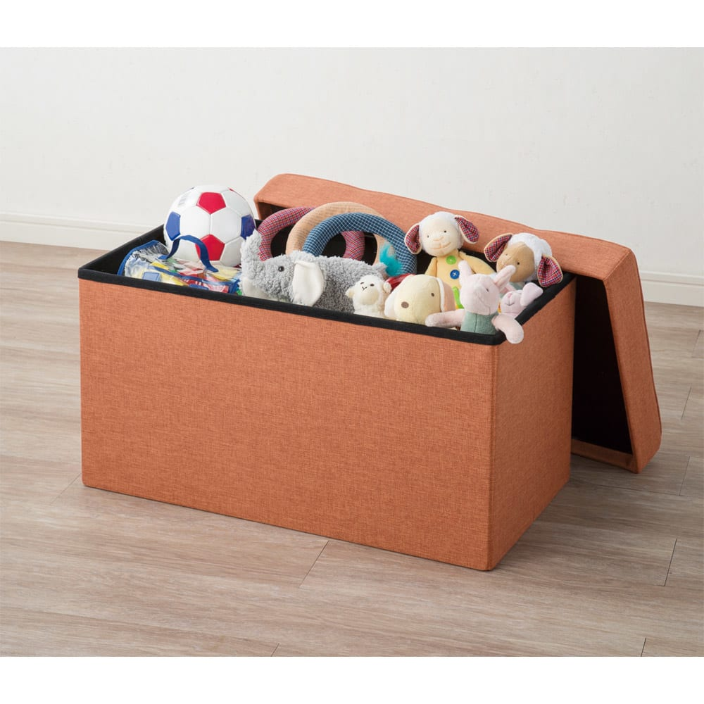 クッション付き収納BOX (イ)オレンジ