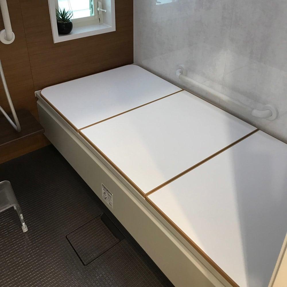 冷めにくい風呂ふたNEO 奥行88cm×幅152~160cm ホワイト/ベージュ 152~160