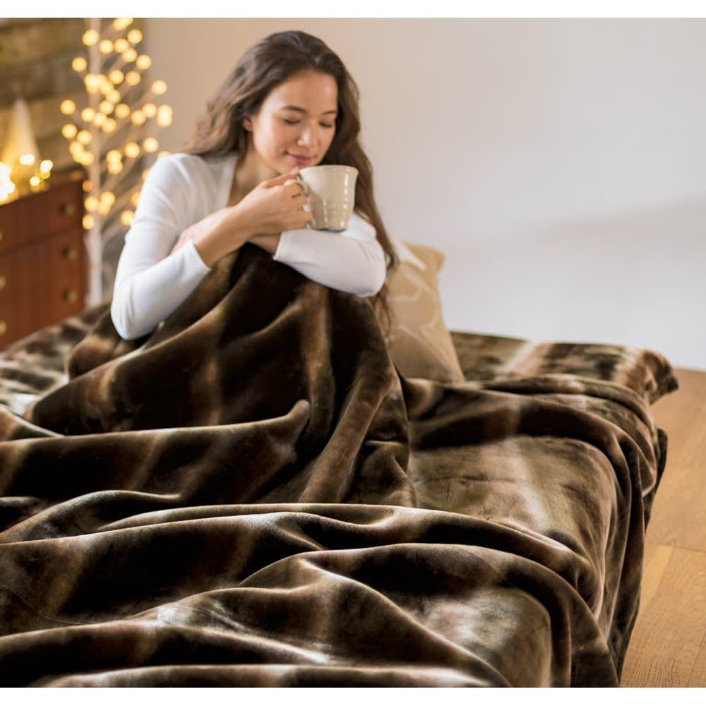 ベッド 寝具 布団 毛布 ブランケット 敷き毛布 ダブル(カルドニード(R) ノッテII 毛布 掛け毛布) 614203