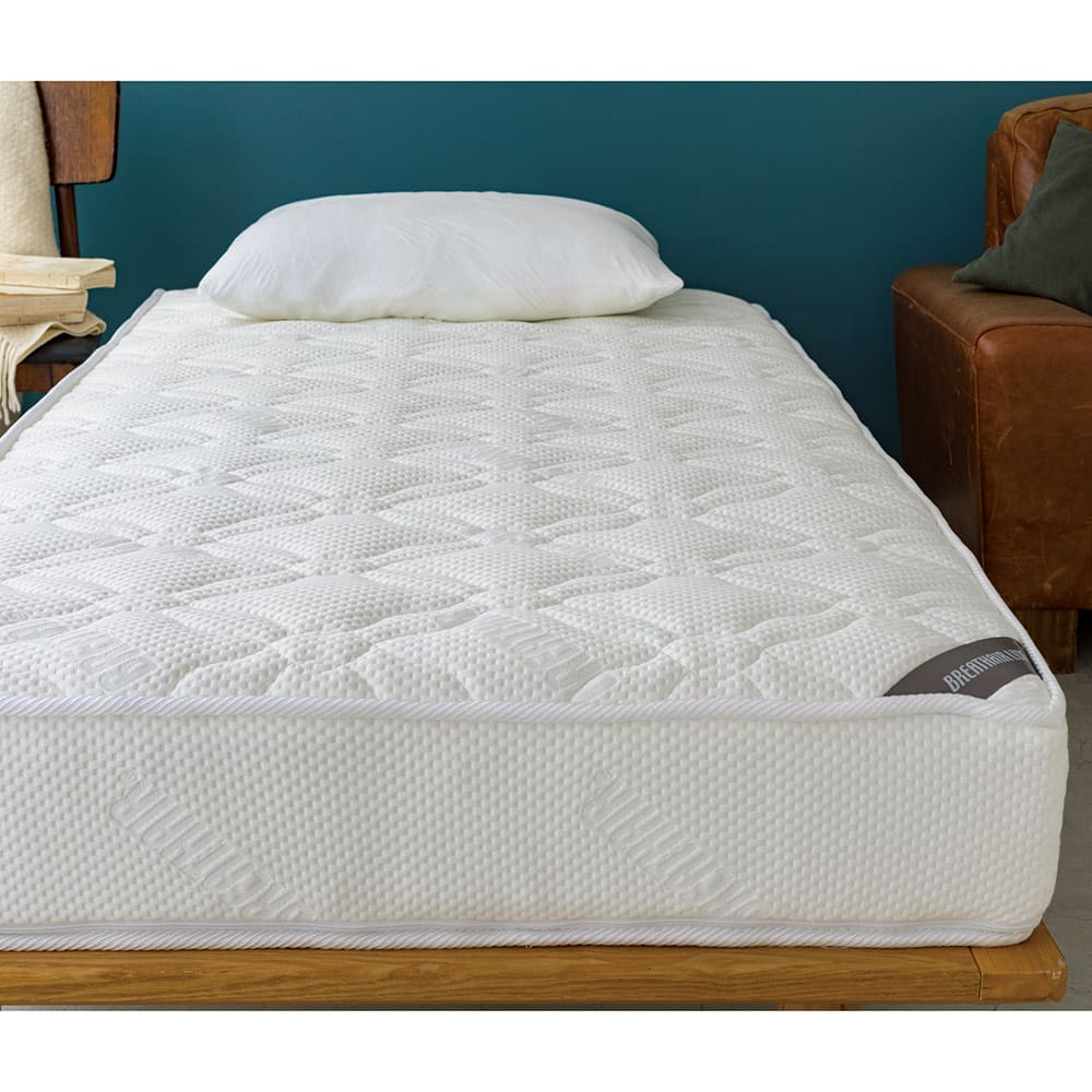 上質な眠りへと誘うブレスエアー(R)リュクス マットレス 写真はシングルサイズです。 ※枕は商品に含まれません。