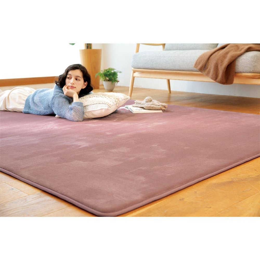 カーテン 敷物 ソファカバー カーペット ラグ マット 絨毯 約190cm×240cm(もっちり低・高反発フランネルラグ) 615817