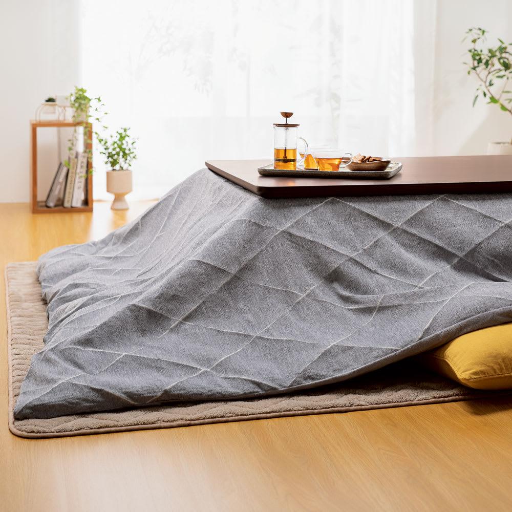 家具 収納 こたつ こたつ布団 カバー 長方形(ズレない&カバーが洗えるこたつ掛け布団) 616826