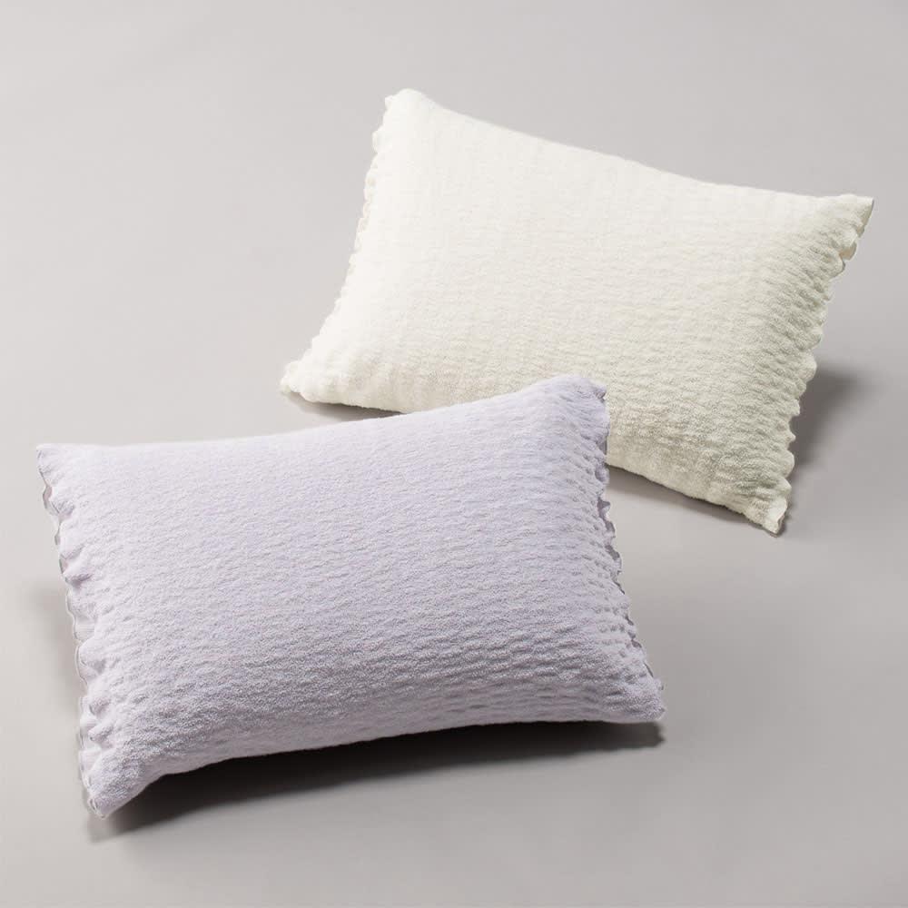 ふわふわ感が長く続く 新・くしゅくしゅ&ふわふわタオル寝具シリーズ ピローケース普通版 684411