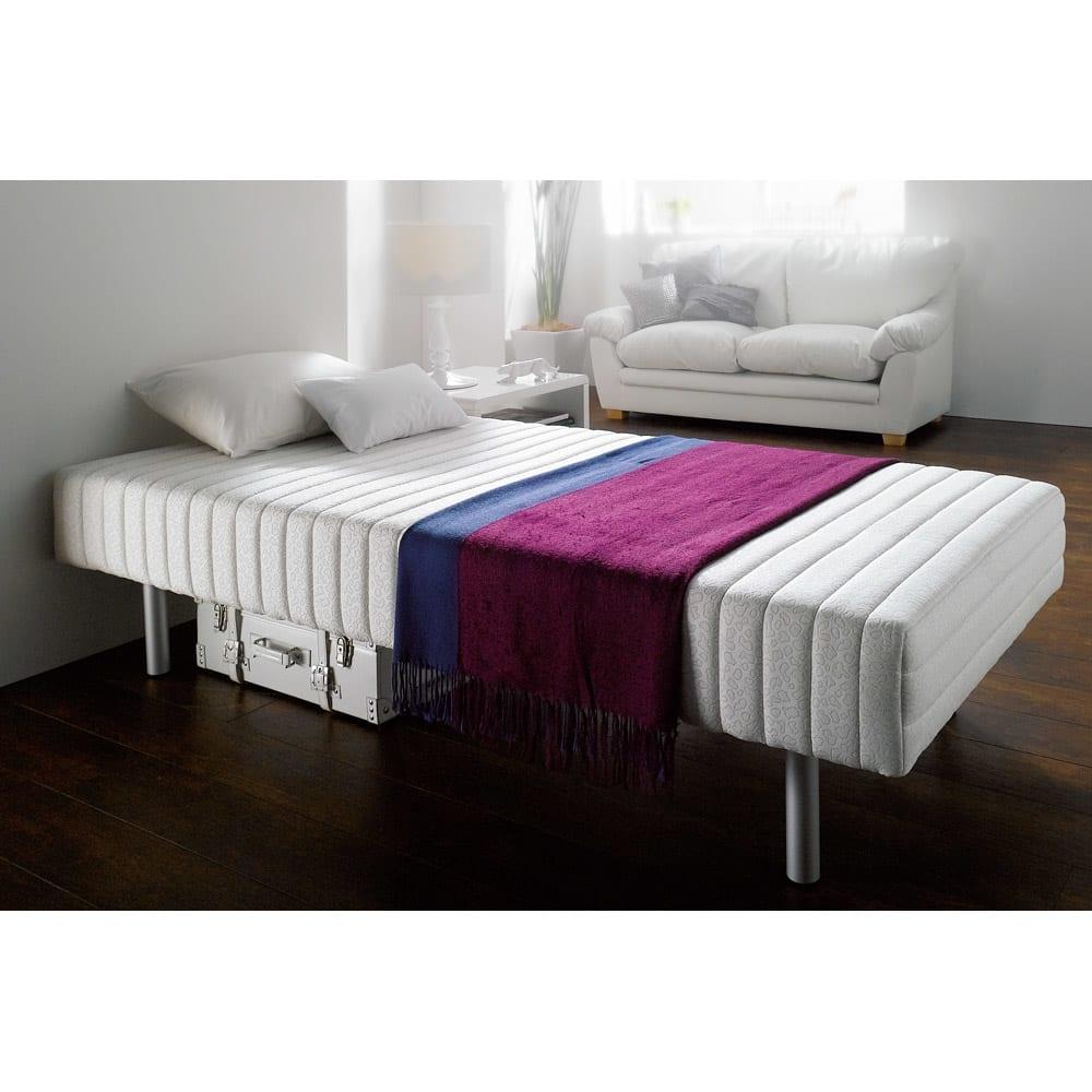 軽くて丈夫なフランスベッド脚付きマットレスベッド シングル 重さ約25kg[France Bed] 688714
