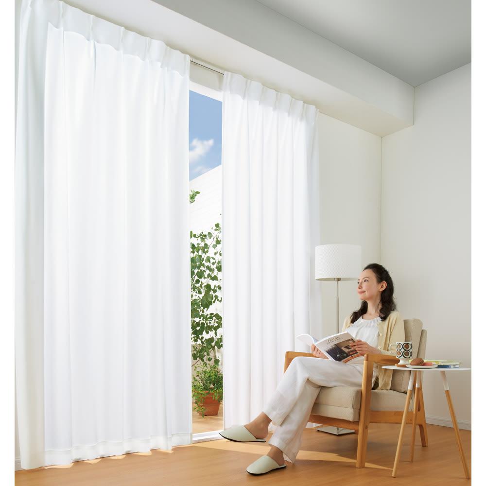 幅100×丈183cm(ウェーブロン(R)使用 UVカットレースカーテン 2枚組) 690609