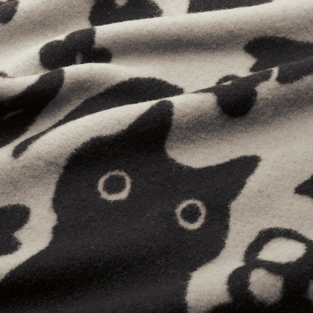 【ATSUKO MATANO/アツコマタノ】 ウール毛布(毛羽部分) ラブソング シングル [生地アップ] (ア)グレー