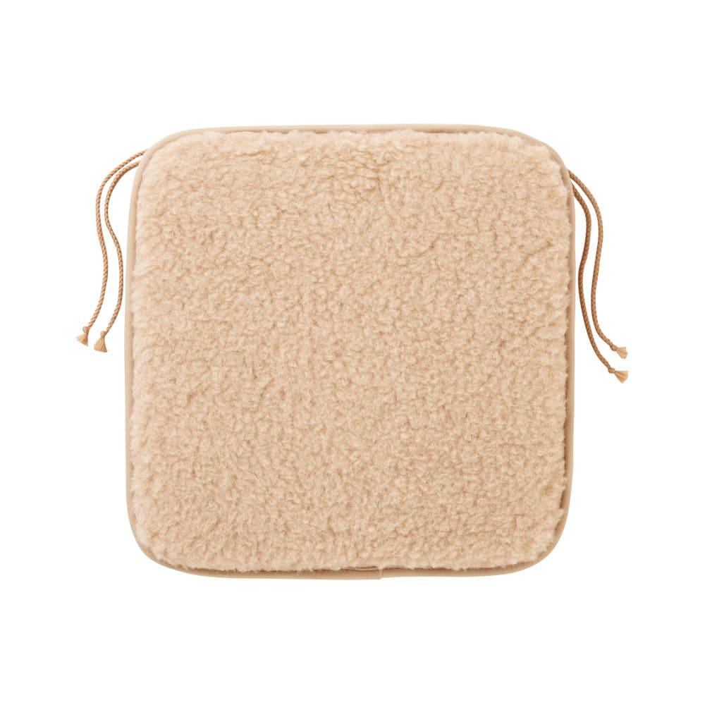 リトアニア「FLOKATI」社 洗えるウール100%シリーズ シートクッション 40×40cm用(1枚) ベージュ