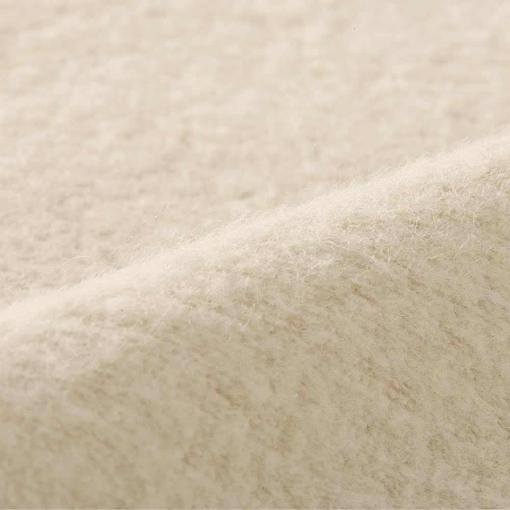 発熱するコットン「デオモイス」寝具シリーズ フランネルニットの2枚合わせ毛布 (ウ)ベージュ 生地アップ