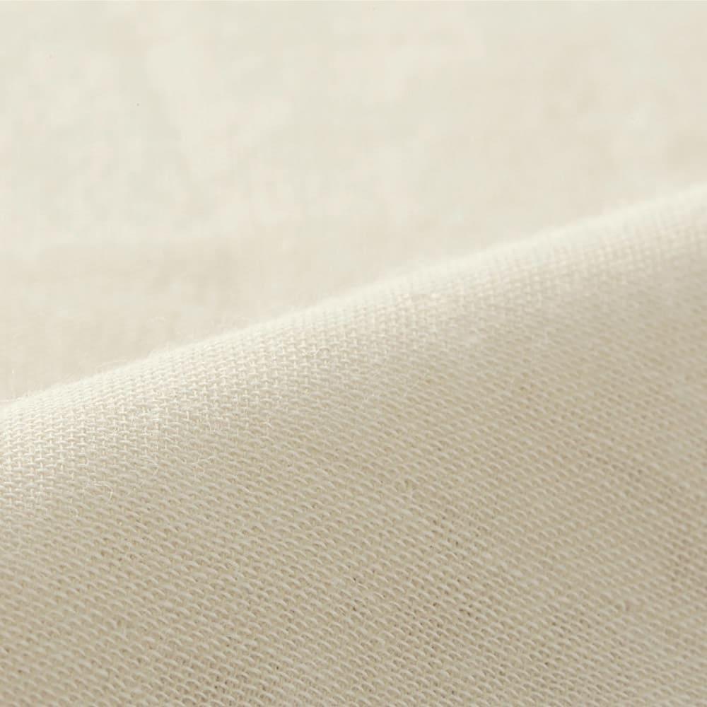 発熱するコットン「デオモイス」小物シリーズ 3重ガーゼのワンピースパジャマ 発熱するコットン:やわらか3重ガーゼの生地アップ