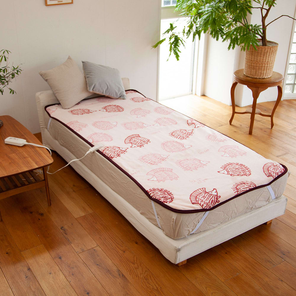 LISA LARSON/リサ・ラーソン電気毛布シリーズ 電気敷き毛布 (ウ)ハリネズミ(ピンク)