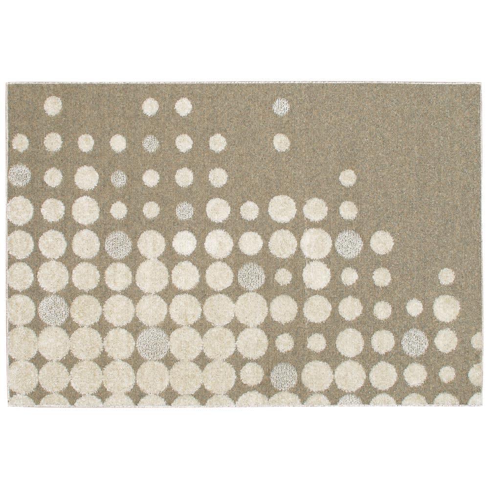 ウールナイロンラグ〈パルム〉 (ア)アイボリー系 ※写真は約130×190cmサイズです。