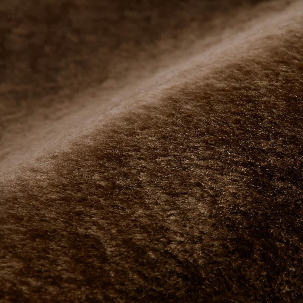 ゆめごこちラグ 洗い替え用カバー単品 (ウ)ブラウン