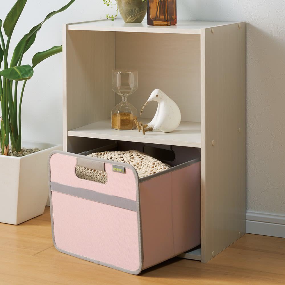 meori 収納BOXホームコレクション Sサイズ カラーボックスに収まるサイズ。